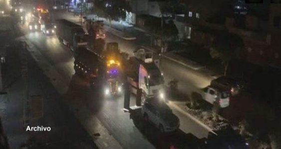 Iraq.  Nuevo convoy del ejército de ocupación estadounidense abandona Siria y se dirige a territorio iraquí