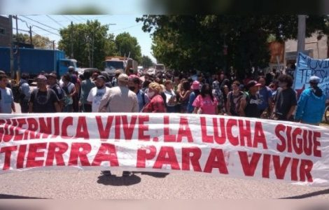 Argentina. Guernica: movilizaron al predio a un mes del desalojo por tierra para vivir