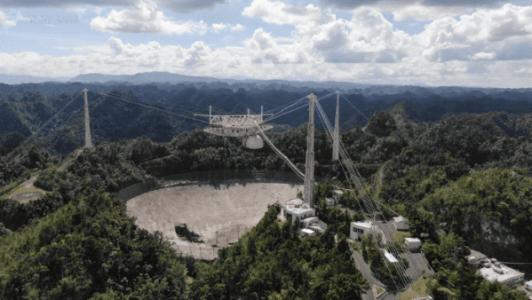 Puerto Rico. Colapsa el histórico radiotelescopio de Arecibo