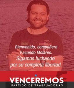 Argentina. Volvió al país después de un año de injusta prisión, el fotoperiodista Facundo Molares