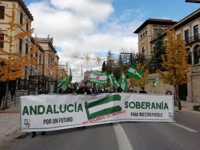 Granada: Mas de medio millar de personas en la manifestación por la soberanía de Andalucía (vídeos)