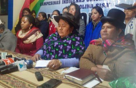 Bolivia. La Confederación de Mujeres Bartolinas Sisa exigen una purga dentro del Gobierno para barrer a las pititas