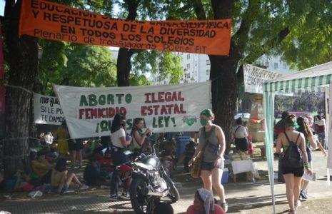 Argentina. Una muchedumbre verde agita las calles cercanas al Congreso apoyando la ley del Aborto legal, seguro y gratuito