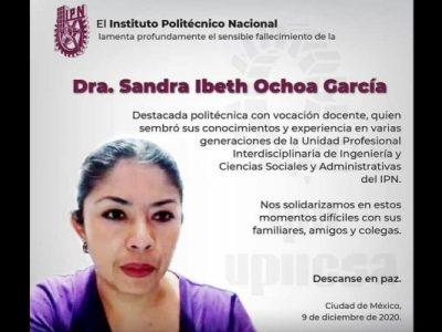 México. Condena CNDH feminicidio de la profesora Sandra Ibeth