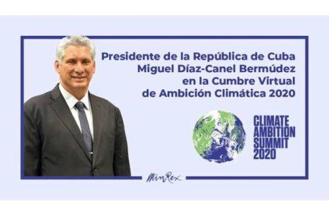 Cuba. En la Cumbre de Acción Climática: Todos estamos amenazados