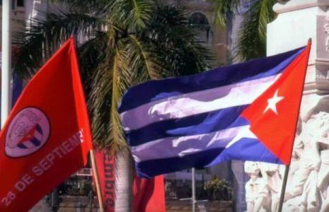 Cuba. Jóvenes capitalinos homenajean a la Revolución