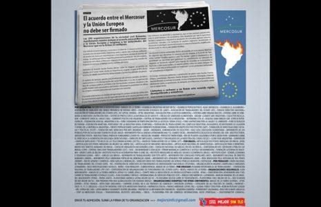Nuestramérica. El acuerdo entre el Mercosur y la Unión Europea no debe ser firmado