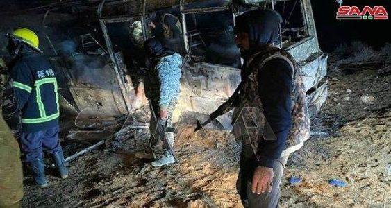 Siria. Ataque terrorista contra un autobús en la provincia de Deir Ezzor 25 muertos y 13 heridos