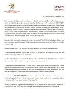 Fuente Vaqueros: La asociación de comerciantes rechaza la reordenación del tráfico realiza por el Ayuntamiento (PSOE)