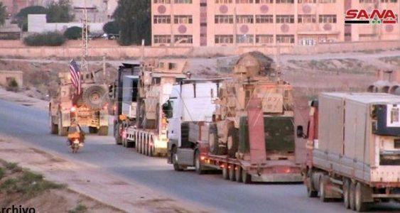 Siria. EE.UU ingresa nuevos refuerzos militares y logísticos a sus bases ilegales al este de Deir Ezzor
