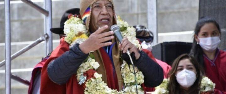Bolivia. El Vicepresidente David Choquehuanca afirma que campesinxs e indígenas «un día nos vamos a levantar»