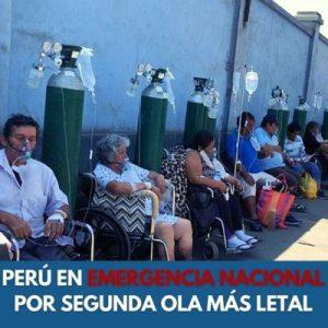 Perú. En emergencia nacional por segunda ola más letal