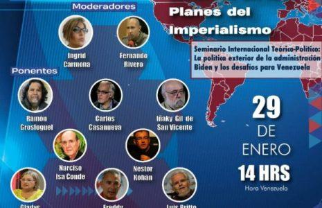 Convocatoria. Este viernes 29: Segundo ciclo «Nuestra América en los planes del imperialismo»