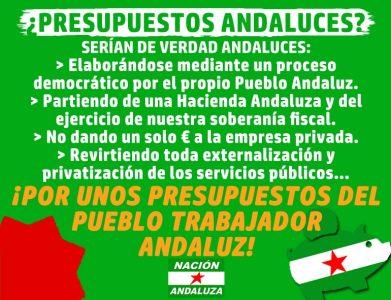 Propuestas presupuestarias y fiscales de Nación Andaluza ¡Hacia unos presupuestos para el Pueblo Trabajador Andaluz!
