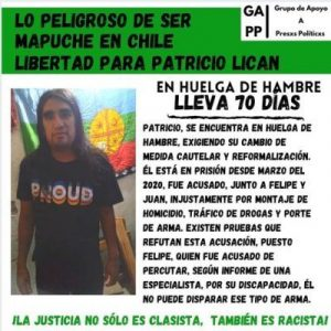 Nación Mapuche. Lo peligroso de ser Mapuche en Chile..libertad para Patricio Lican