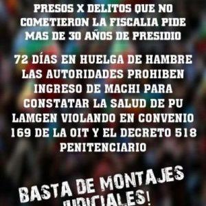 Nación Mapuche. Presos de Angol a 74 días de Huelga de Hambre!!!!!