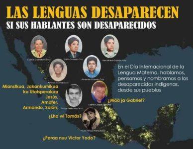 México. Las lenguas desaparecen si sus hablantes son desaparecidos