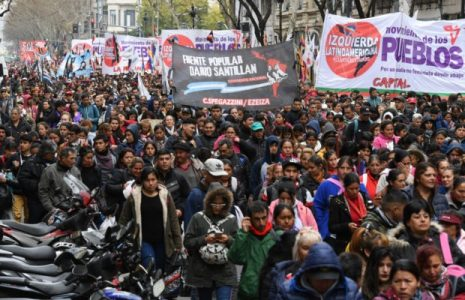 Argentina. Organizaciones sociales convocan para este martes jornada nacional de lucha en repudio al FMI