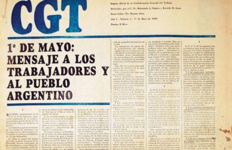 Argentina. Programa del 1º de Mayo de la CGT de los Argentinos, una propuesta realizada en 1968 que no ha perdido vigencia