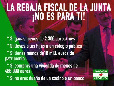 Nación Andaluza rechaza la rebaja de impuestos de la Junta para las que más tienen: