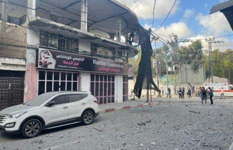 Palestina. HOLOCAUSTO. Aviones israelíes destruyen la sede clínica de la Media Luna Roja de Qatar
