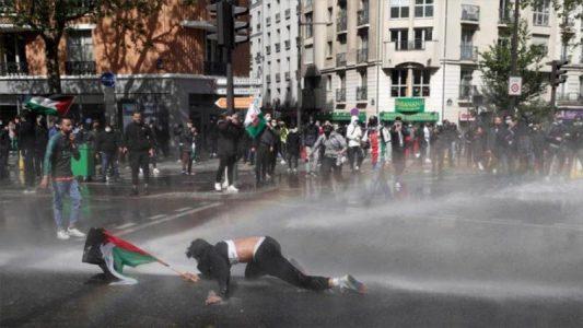 Policía de varios países europeos reprime marchas a favor de Palestina