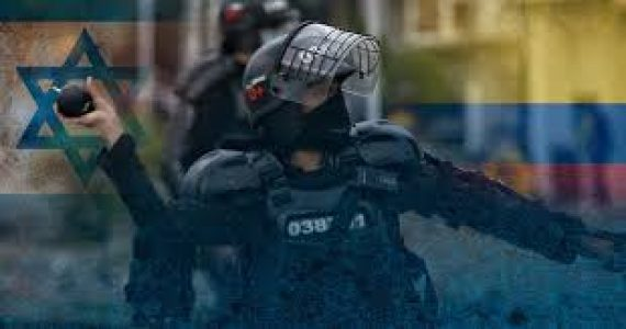 Policía colombiana aplasta a manifestantes con armamento israelí