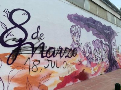 La Loma: La ultraderecha ataca un mural feminista en Baeza