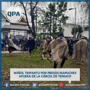Nación Mapuche.  Realizan ceremonia de Wiñoy Xipantu por Daniel Canío, Luis Tranamil y Facundo Jones Huala, y por la libertad de todxs los Presos políticos Mapuche, en las prisiones de Temuco, Lebu, Angol