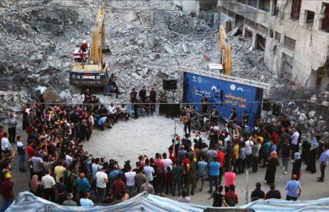 'Música entre los Escombros': Banda palestina se presenta en concierto sobre los restos de un edificio destruido en ataques israelíes