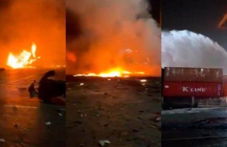 Emiratos Árabes Unidos. Dubai: Una fuerte explosión causa incendio en su principal puerto
