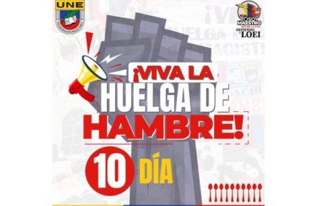 Ecuador. Huelga de hambre de docentes cumple 10 días