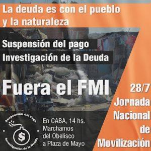 Argentina. Este miércoles gran marcha por la suspensión del pago de la deuda externa y contra el FMI