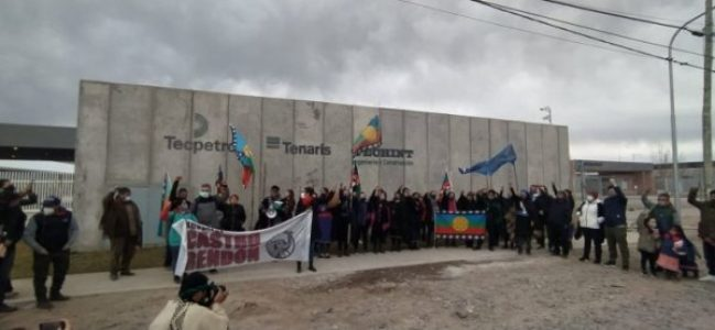 Nación Mapuche. Neuquén : Manifestación frente a Tecpetrol, denuncian al Fracking como causante de sismos en la región (video)