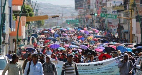 México. Chiapas: Magisterio exige la libertad de José Luis Sánchez Huerta, luchador social encarcelado por la «4T»