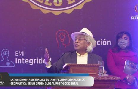 Bolivia. Rafael Bautista: Estado Plurinacional en la geopolítica de un orden global post occidental (video)