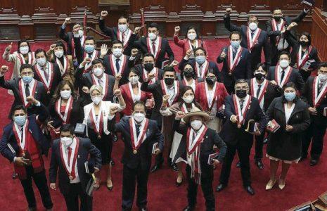 Perú. Parlamentarios de Perú Libre preparan moción para censurar a la Mesa Directiva del Parlamento si no reconsidera la titularidad de la Comisión de Educación
