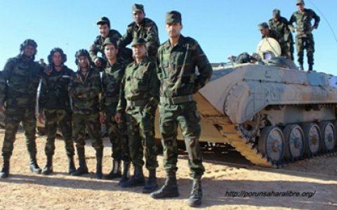 Sahara Occidental. Gran parte de una base militar marroquí en Fadret El Bir destruida hoy por la artillería saharaui