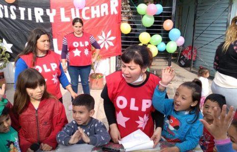 Argentina: La militancia barrial de la OLP-Resistir y Luchar festejó el Día de las infancias