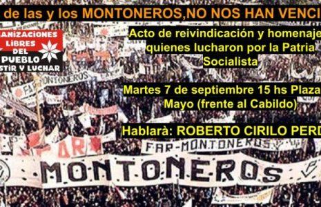 Argentina. Convocan acto frente al Cabildo de Buenos Aires por el Día de las y los Montoneros /Será este martes 7 de septiembre fecha en que fueron asesinados en 1970 los montoneros Gustavo Ramus y Fernando Abal Medina