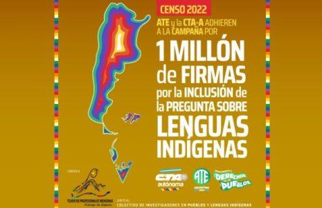 Argentina. Campaña un millón de firmas para incluir las lenguas originarias en el censo