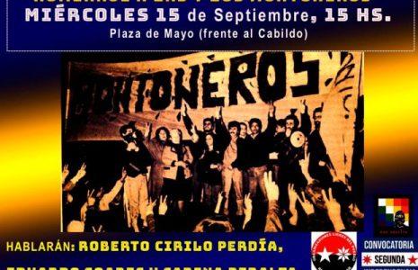 Argentina. Numerosos saludos al acto que recordará a las y los Montoneros, a realizarse este miércoles a las 15 horas en Plaza de Mayo