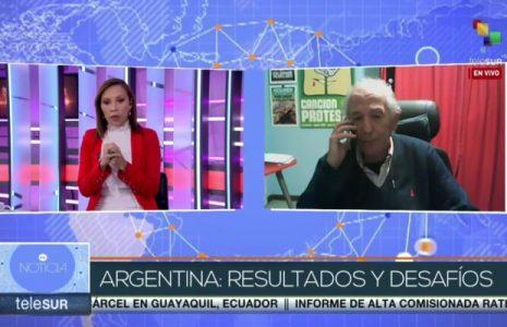 Argentina. Análisis de Carlos Aznárez de las PASO, 2021, en Telesur