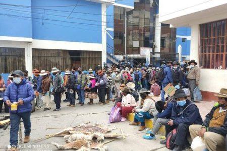 Perú. Más de 3500 familias de Apurimac se encuentran de paro
