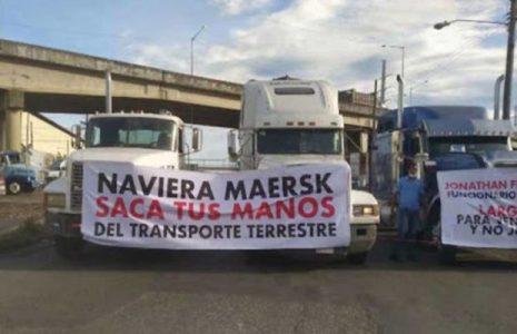 Panamá. Transportistas terrestres de contenedores inician paro