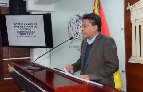 Bolivia. Gobierno iniciará acciones penales por el ultraje de símbolos patrios y actos de racismo en Santa Cruz