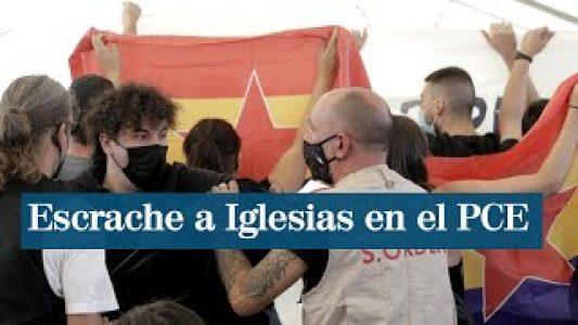 Estado español. Escrachan a Pablo Iglesias en la fiesta del PCE y este pide un aplauso «para el servicio de orden» que expulsa a los «provocadores» (+ vídeo)