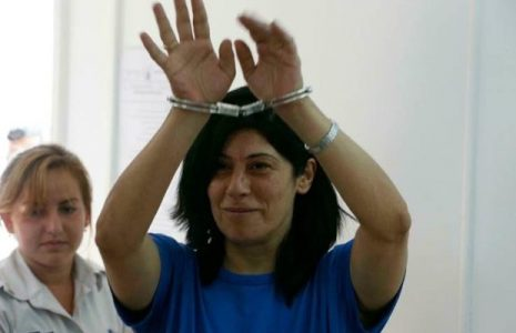 Palestina. Líder palestina cautiva Khaleda Jarrar abraza la libertad