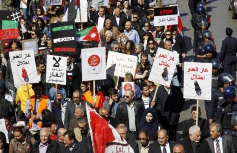 """Jordania. Manifestantes jordanos piden la cancelación de un acuerdo de gas con """"Israel"""""""