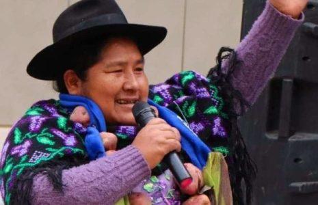 Bolivia. Segundina Flores, una embajadora «de pollera» y militante combativa como pocas